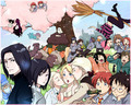 Harry Potter Group - harry-potter-anime photo