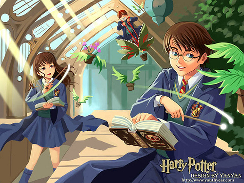 Harry Potter Anime wallpaper entitled Harry Potter Group