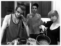 Hayley & Taylor at Jermey's place - paramore photo