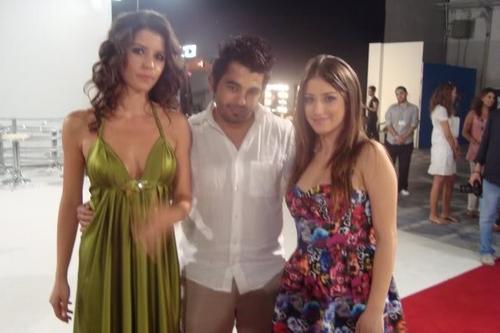 하잘 카야 바탕화면 with a 공식 만찬, 저녁 식사 dress and a bridesmaid titled Hazal Kaya- Ask-i Memnu (behind scene)