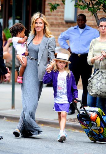 Heidi Klum Leaves Her Hotel (July 25)