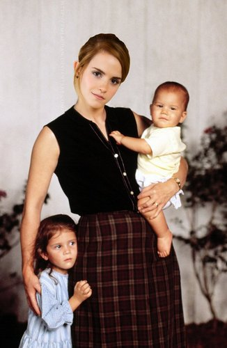 Hermione with Rose and Hugo