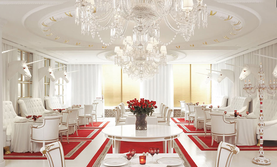 Hotel dining room with unicorns unicorns photo for Best hotel dining rooms