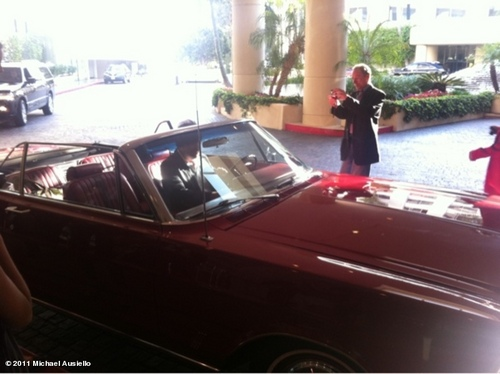 Hugh Laurie arrived in his awesome car at the TCAs last night-30.07.2011