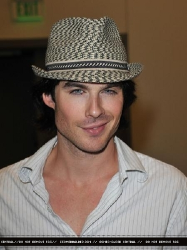 Ian Somerhalder wallpaper containing a fedora, a boater, and a snap brim hat titled Ian Hot