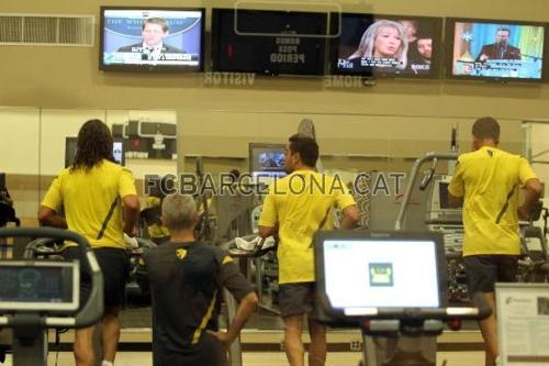 Indoors training session