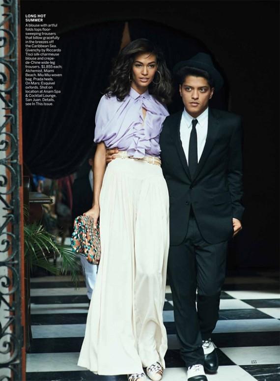 Joan Smalls & Bruno Mars US Vogue June 2011