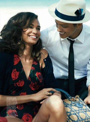 브루노 마스 바탕화면 titled Joan Smalls & Bruno Mars US Vogue June 2011