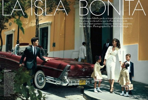 Joan Smalls & Bruno Mars US Vogue June 2011