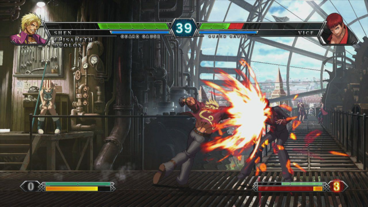 King Of Fighters Xiii Shen Woo Vs Vice The King Of Fighters