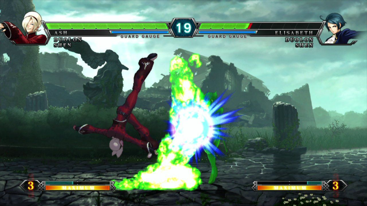 King Of Fighters Xiii Ash Vs Elizabeth The King Of Fighters