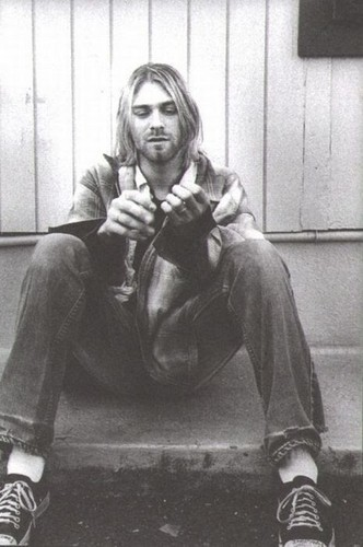 Nirvana Wallpaper Probably With Bare Legs Hosiery And A Hip Boot Titled Kurt Cobain