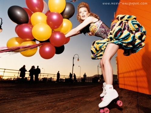 Kylie on roller skates!