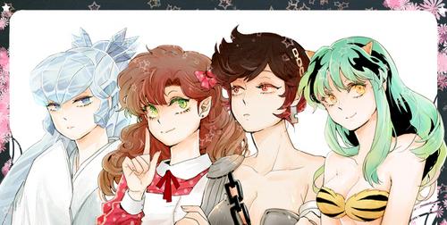 Lum, Benten, Ran, and Oyuki