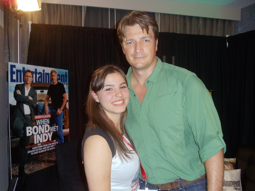 замок & Beckett Обои called ME & NATHAN FILLION!