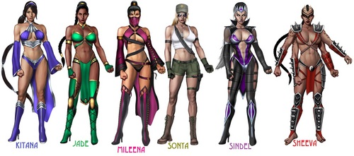 MK 2011 Ladies in their alternate outfits - the-ladies-of-mortal-kombat Fan Art