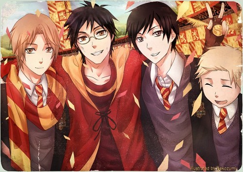 Harry Potter anime achtergrond titled Marauders