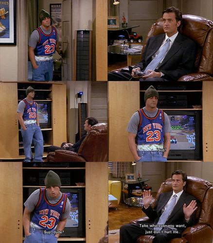 Matt as Joey { le blanc as Tribbiani }