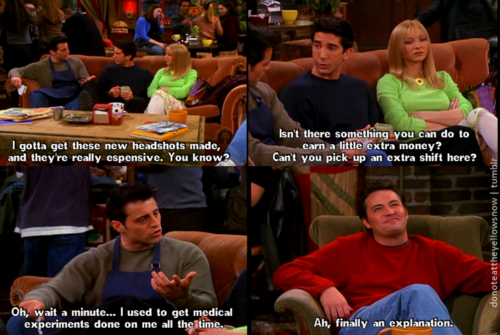 Matt as Joey { le بلانک as Tribbiani }