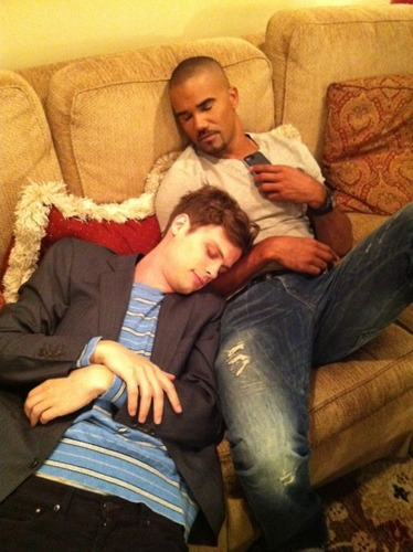 Matthew Gray Gubler wallpaper called Matthew and Shemar Moore