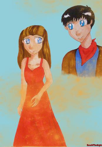 Merlin and Nimueh कार्टून