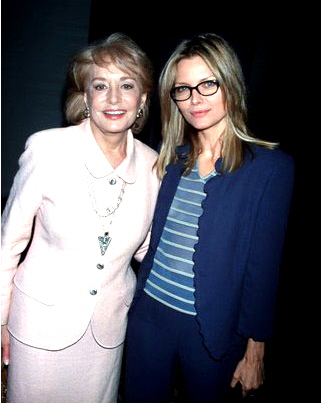 Michelle Pfeiffer and Barbara Walters