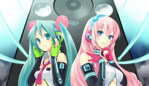 Vocaloid Обои entitled Miku and Luka