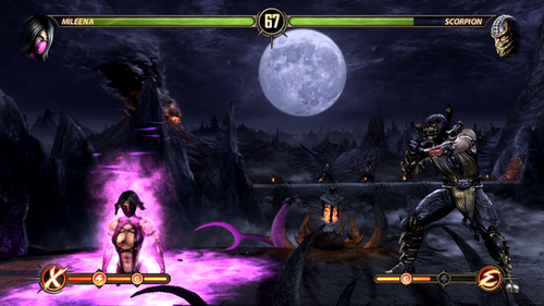 Mortal Kombat kertas dinding probably with a api, kebakaran called Mileena vs kala jengking