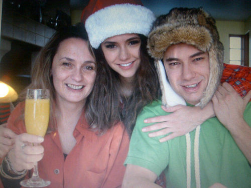 Nina Dobrev and her family