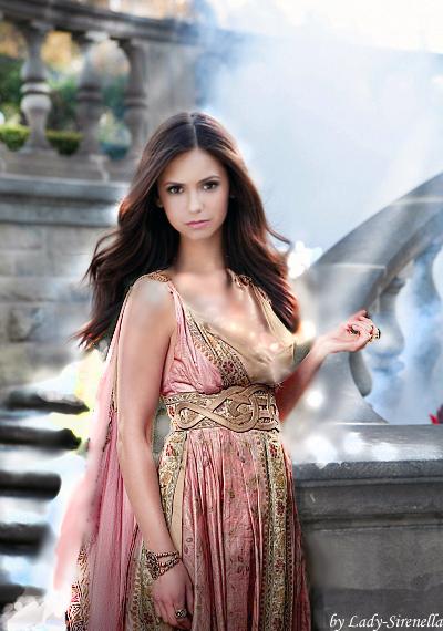 Nina Dobrev as antique Rome women