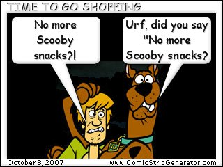No আরো Scooby snacks?!