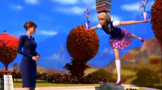 PCS: Everyone, who'll fail exams, will stand in the same way like Blair does! - barbie-movies photo