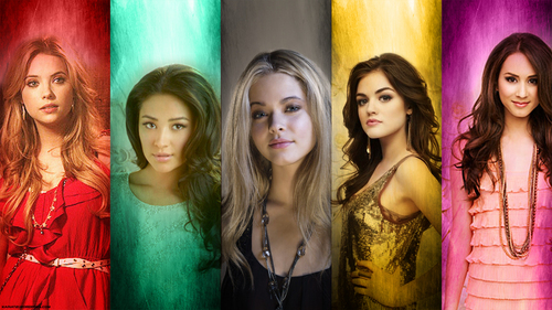 Pretty Little Liars TV Show wallpaper with a portrait entitled PLL