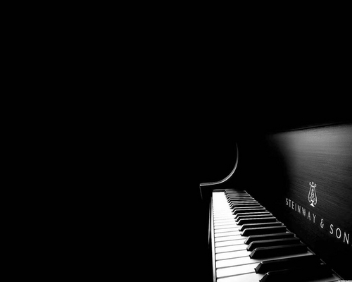 Music wallpaper with an upright, a piano, and a grand piano titled Piano Wallpaper