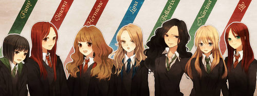 Harry Potter Anime wallpaper possibly containing a spatula titled Potter Anime