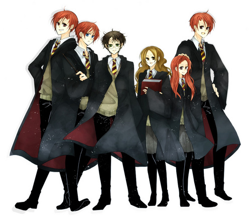 Harry Potter Anime wallpaper probably with a business suit and dress blues titled Potter Anime
