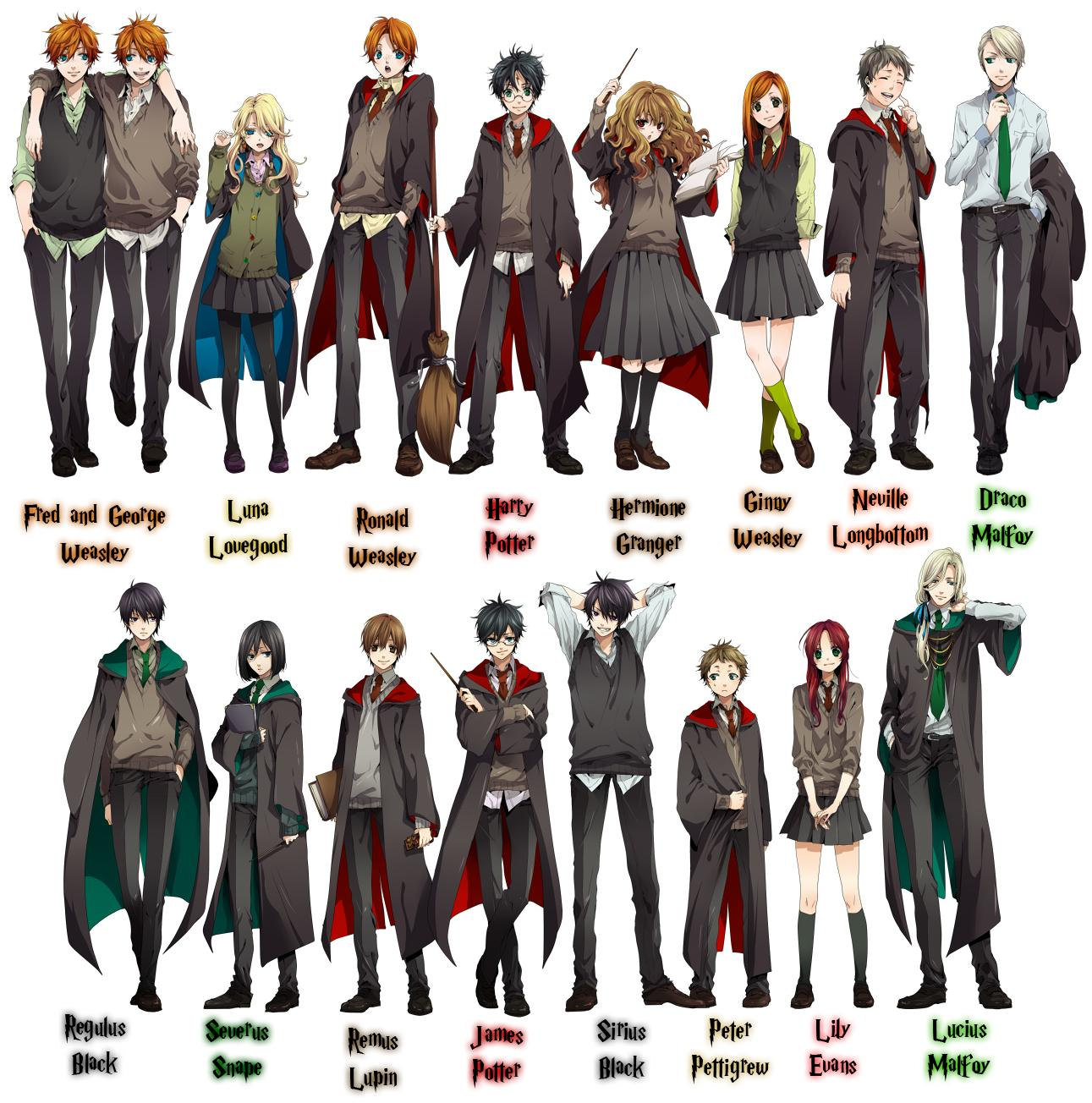 Harry Potter Anime Potter Characters