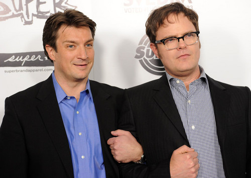 Rainn and Nathan Fillion