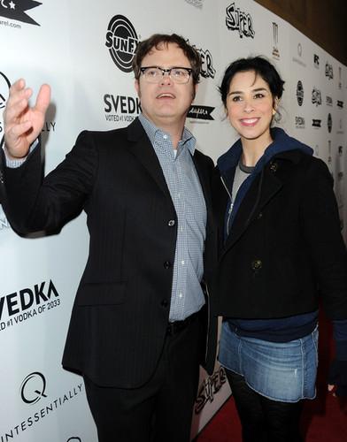 Rainn and Sarah Silverman