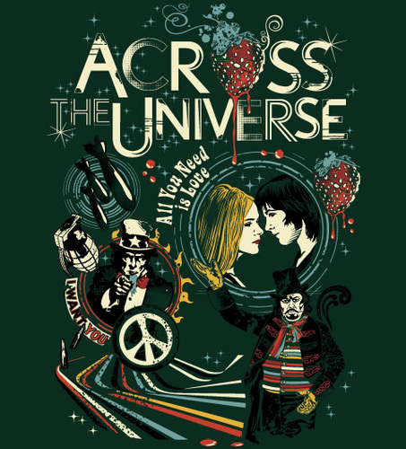 Across the Universe wallpaper with anime called Reverbcity Shop - Camisetas/T-shirts Across The Universe
