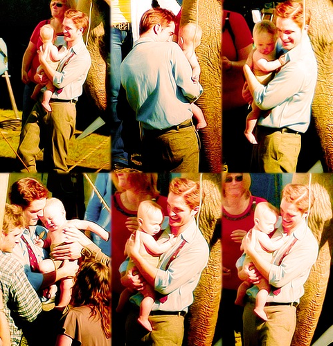 Rob with a baby :)) <33