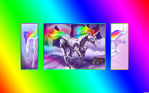 Robot Unicorn 壁紙