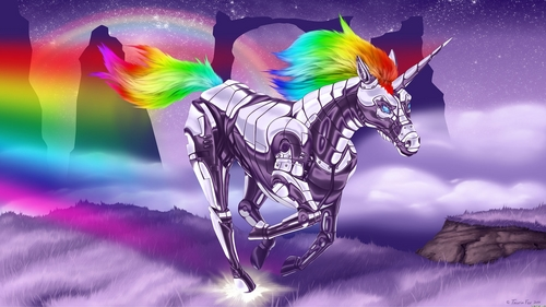 Robot Unicorn Wallpaper - unicorns Wallpaper