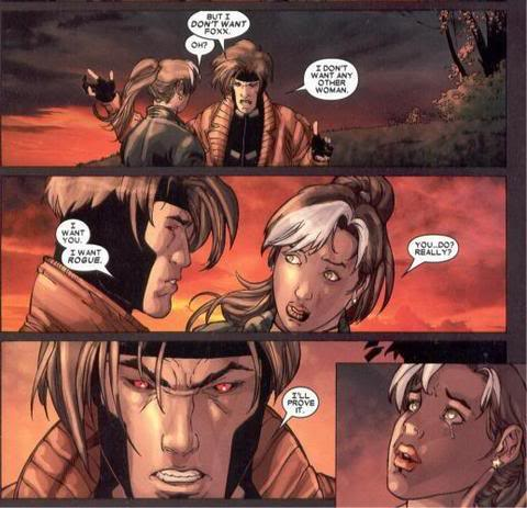 gambit and rogue kiss-#37