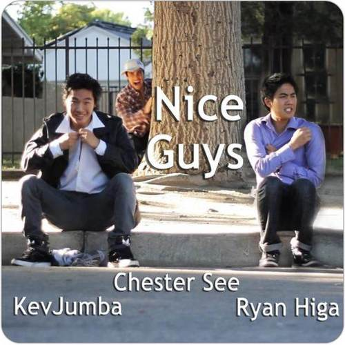 Nigahiga wallpaper with a street, a business suit, and a sign titled Ryan & Kevin & Chester! ♥