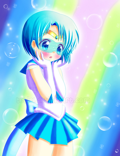 Sailor Mercury Hintergrund called Sailor Mercury / Tetiel