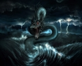 Sea Snake Dragon - dragons wallpaper