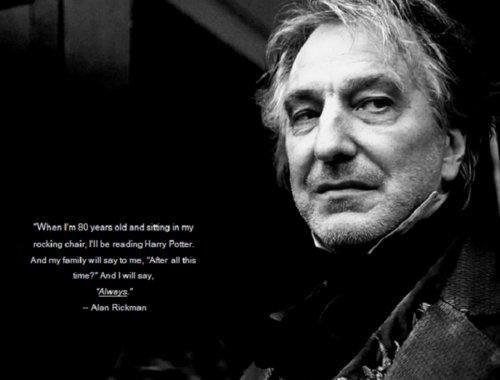 Alan Rickman karatasi la kupamba ukuta titled Severus Snape <3