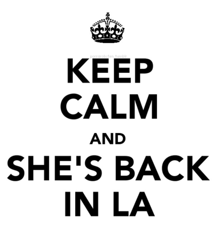 She is back in LA