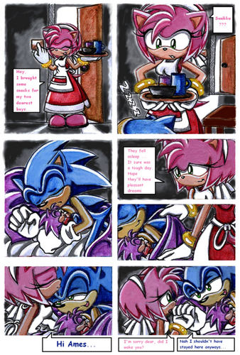 Sonamy comic and her bro is there 2 ^^